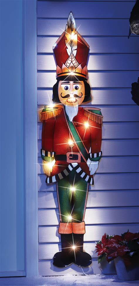 44 quot lighted nutcracker holiday lawn yard stake outdoor