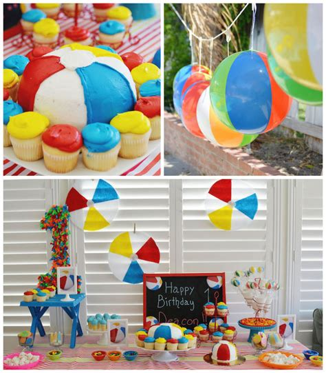 Kara's Party Ideas Beach Ball Themed Birthday Party
