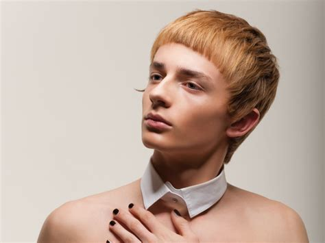 male medieval hairline inspired by monks bangs for boys