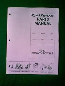 Gilson Snowblower 5 Horsepower 26 Inch  Ignition Wiring