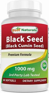 Best Naturals Black Seed Oil Capsules 1000 Mg  Non-gmo  Nigella Sativa