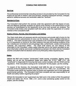 consulting agreement 9 free pdf doc download With consultation agreement template
