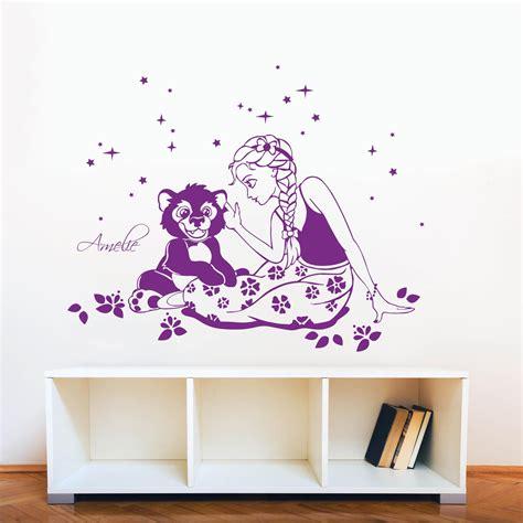 Wandtattoo Kinderzimmer Mädchen Prinzessin by Wandtattoo M 228 Dchen Prinzessin Elsa Mit B 228 R Bruno