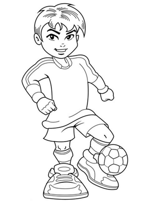 Coloring Pages For Boys by A Boy On Complete Soccer Jersey Coloring Page