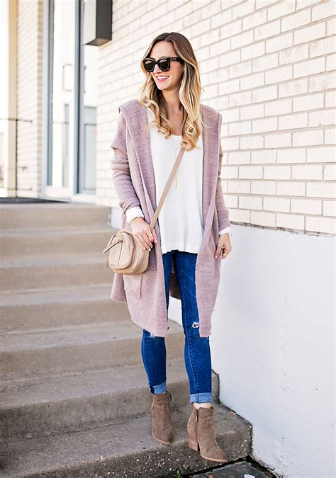 Dusty Pink Cardigan u0026 Ankle Booties - LivvyLand | Austin ...
