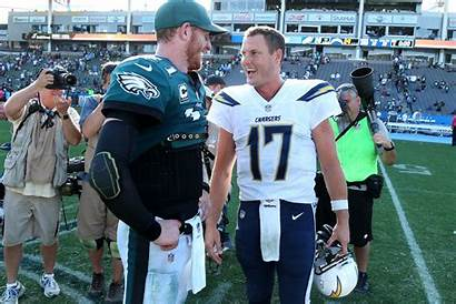 Philip Rivers Carson Wentz Chargers Eagles Angeles