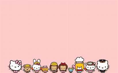 Kitty Hello Desktop Backgrounds Sanrio Pc Stiker