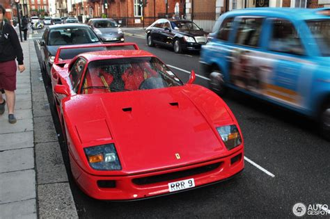 However, over the years, there have been claims of yellow and black ones, but this specific example carries an even more exclusive sky blue shade with tricolore stripe and a. Ferrari F40 - 28 August 2014 - Autogespot