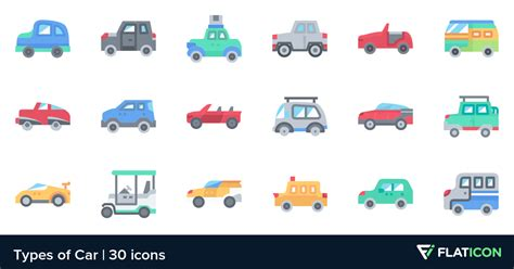 Types Of Car 30 Premium Icons (svg, Eps, Psd, Png Files