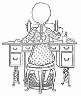 Sewing Coloring Pages Holly Machine Hobbie Album Embroidery Bonnie Patterns Quiet Hand Archive Adults Picasa Hh Colouring Jones Web Google sketch template