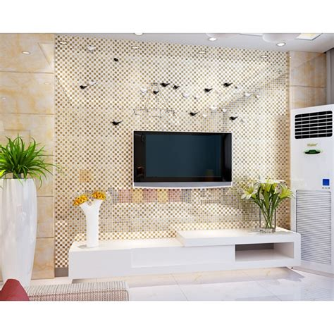 kitchen backdrop tiles gold plated glass tile mirror wall tile washroom 2197