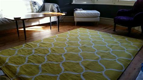 NEW Yellow Stockholm Rug Ikea 100% wool   in Bishopston
