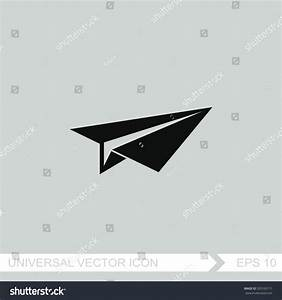Paper Airplane Vector Icon Stock Vector 520165171 ...