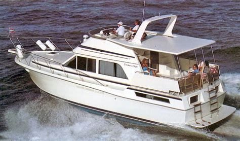 1985 Chris Craft Deck Boat by Powerboat Guide Chris Craft 425 426 427
