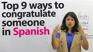 How To Congratulate Someone In Spanish
