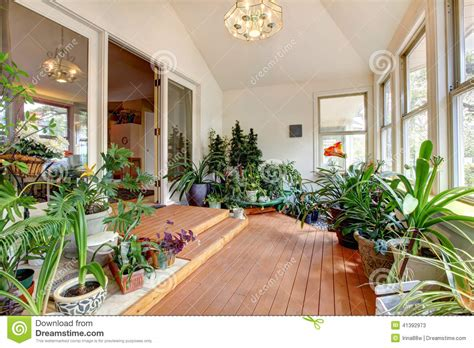 Home Greenhouse Interior Stock Image. Image Of Floor