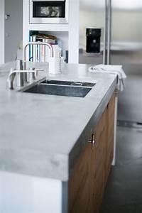 Küche Aus Beton : robuste optik von k chenplatte aus beton mit sp le k che pinterest k chenplatten k che ~ Sanjose-hotels-ca.com Haus und Dekorationen