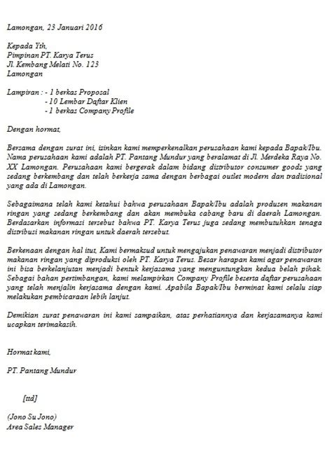 contoh surat penawaran barangjasa  buat surat
