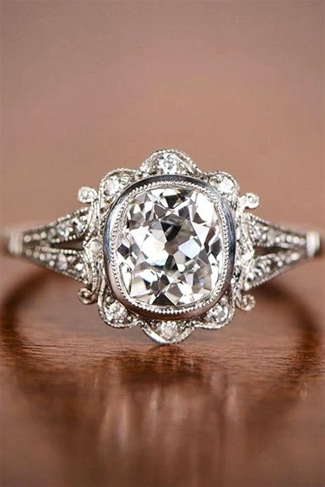 unique antique wedding rings wedding promise diamond