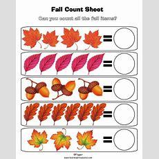 Fall Leaves Worksheets Preschool  Print This Preschool Math Worksheet  School October