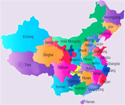 regions  china map