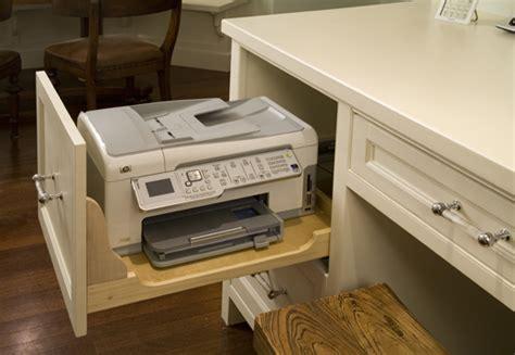 desk with printer drawer storage solutions 6689