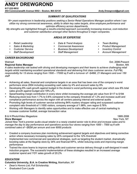 Best Sle Of Resume For Application by How To Write A Quality Sales Manager Resume