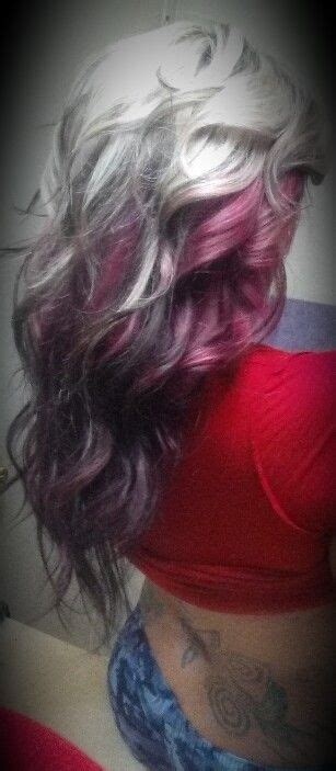 Platinum Ontop With Magenta Underneath Brighter Red