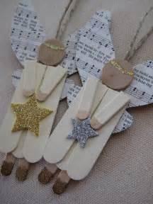 leaf and letter handmade no budget christmas decor popsicle sticks