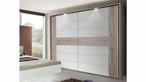 Die Richtige Farbe Fürs Schlafzimmer : schlafzimmer 3 rondino komplettset in sandeiche wei hochglanz mit led ~ Sanjose-hotels-ca.com Haus und Dekorationen