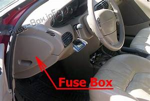 Fuse Box Diagram Chrysler Cirrus  1994