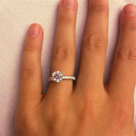 my engagement ring 1 5 carat round solitaire center