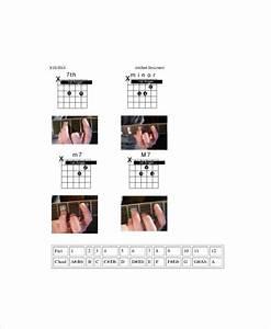 Visual Guitar Chord Chart Template 5 Free Pdf Documents