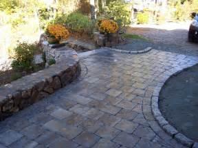 paver patio walkway raised edge for around bay windows