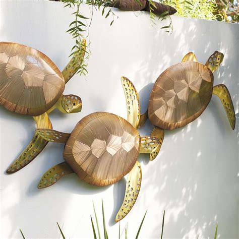 Turtle Decorations by Sea Turtle Trio Wall Decor Frontgate