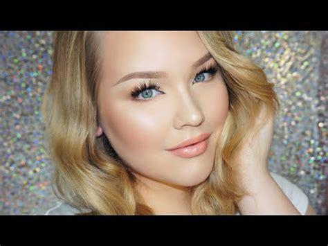 glowy daytime glam makeup hair tutorial youtube