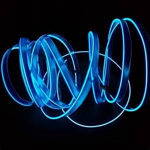 Lampu Interior Mobil Led Neon Rgb 3 Meter With 12v Inverter - Blue