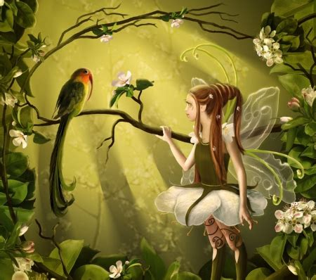 spring fairy fantasy abstract background wallpapers