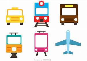 Vector Transportation Flat Icons - Download Free Vector ...