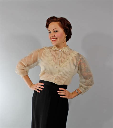 s sheer blouses 1950s vintage blouse fashion sheer 50s blouse