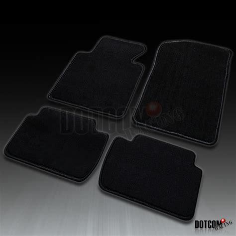 bmw e46 floor mats 1999 2005 bmw e46 3 series m3 330i front rear black carpet