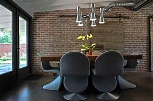 deco salle a manger avec mur brique 50 idees originales With mur interieur en brique