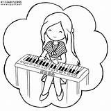 Piano Coloring Pages Playing Keyboard Printable Keys Sheets Getdrawings Tocando Para Getcolorings Colorir Popular Partir Daycoloring Guardado sketch template