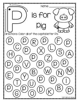 Find The Letter Alphabet Recognition Worksheets By Abc's Of Literacy