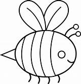 Bee Cute Bumble Clip Line Lineart Bumblebee Sweetclipart sketch template