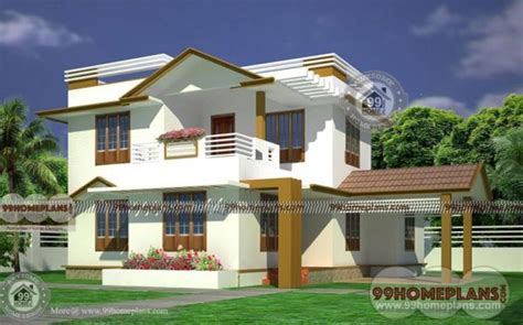 ready house plans bhk story modern indian style home