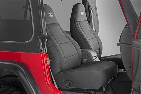 black neoprene seat cover set    jeep wrangler