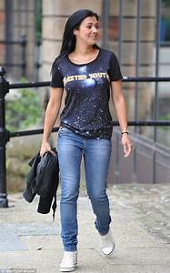 Kym Marsh looks pleased with herself on way to Key 103 ...