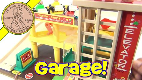 fisher price vintage play family action garage playset