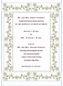 free printable wedding invitation templates hohmannnt With wedding invitations templates for word 2010